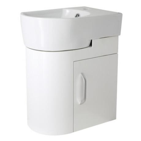 Ultra Carlton White Cloakroom Wall Mounted Unit