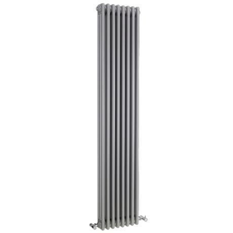 Ultra Colosseum Triple Column Radiator 1800 x 381mm - High Gloss Silver - HXS12