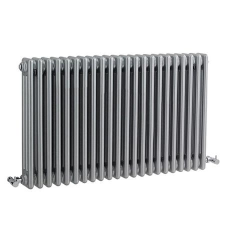 Ultra Colosseum Triple Column Radiator 600 x 1011mm - High Gloss Silver - HXS06