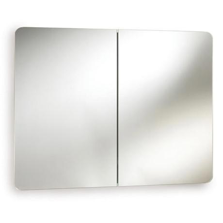 Ultra Mimic Stainless Steel Double Mirrored Cabinet with Hinged Doors - LQ383