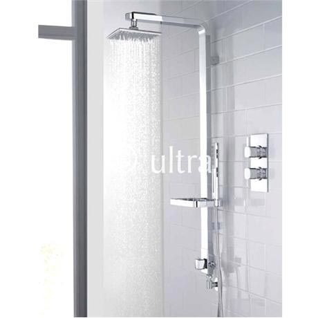 Ultra Muse Concealed Thermostatic Twin Shower Valve w/ Intuition Shower Kit - Chrome