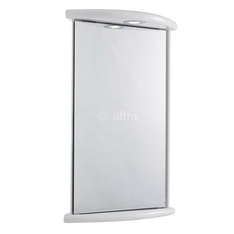 Ultra Niche Corner Mirror Cabinet With Light Shaving Socket And Digital Clock Lq374 At Victorian Plumbing Uk