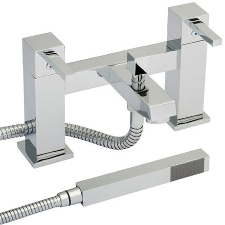 Ultra Series L Bath Shower Mixer with Shower Kit - Chrome - LTY344