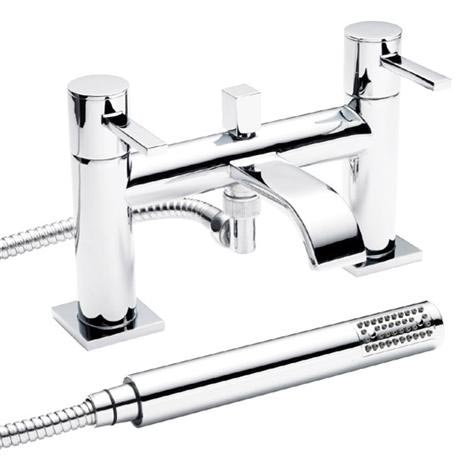Ultra Series W Bath Shower Mixer + Shower Kit - Chrome - WTY304