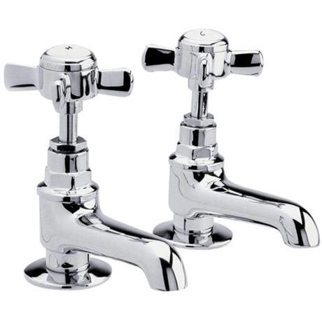 Traditional Basin Taps - Chrome - IJ321