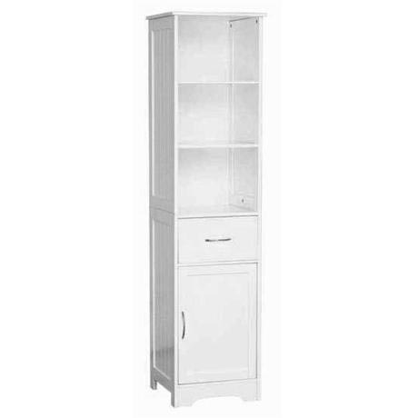 tall wooden bathroom cabinets white wood floorstanding cabinet with shelves 27085