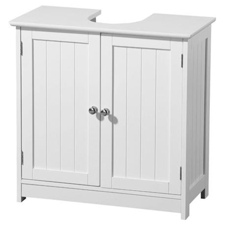 White Wood Under Sink Cabinet - 2402060