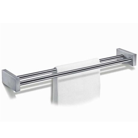 Zack Fresco Large Double Towel Rail - Stainless Steel - 40144