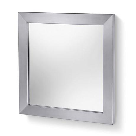 Zack Bathroom Mirrors zack zenta bathroom mirror - stainless steel - 50675 at victorian