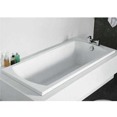 Zeto 1700 x 800 Bath with Support Frame & Hi-gloss Front Panel at ...