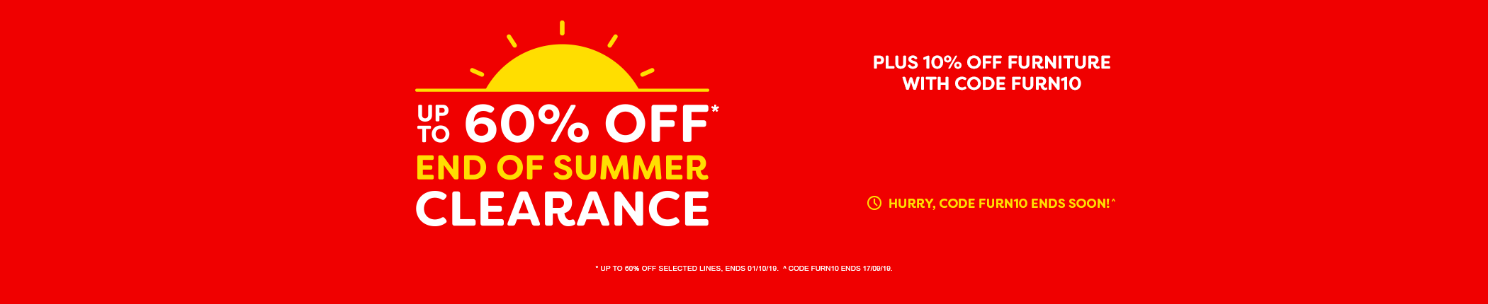End of Summer Clearance