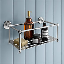 Chatsworth 1928 Traditional Large Bottle Rack - Chrome Medium Image