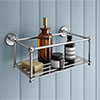 Chatsworth 1928 Traditional Large Bottle Rack - Chrome Small Image