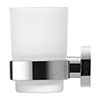 Duravit D-Code Glass Tumbler with Holder profile small image view 1