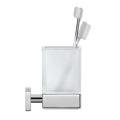 Duravit Karree Glass Tumbler with Holder - 0099511000