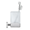 Duravit Karree Glass Tumbler with Holder - 0099511000 profile small image view 1
