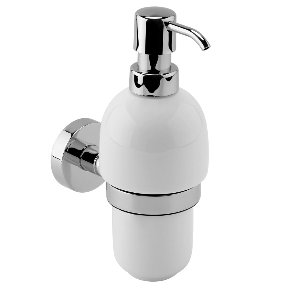 Bosa Ceramic Wall Mounted Soap Dispenser with Holder
