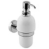 Bosa Ceramic Wall Mounted Soap Dispenser with Holder profile small image view 1