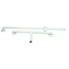 AKW T-Shape White Epoxy Coated Grab Rail - 1200 x 300 x 300mm profile small image view 1
