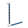 AKW 1600 Series Blue 90° Natural Grip Plastic Grab Rail profile small image view 1