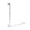 AKW 1600 Series White 90° Natural Grip Plastic Grab Rail profile small image view 1