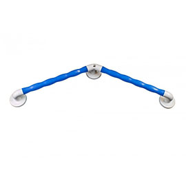 AKW Blue 135° Angled Natural Grip Plastic Grab Rail