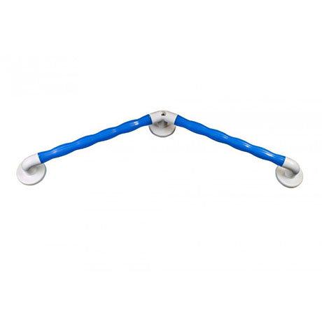 AKW Blue 135° Angled Natural Grip Plastic Grab Rail