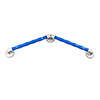 AKW Blue 135° Angled Natural Grip Plastic Grab Rail profile small image view 1