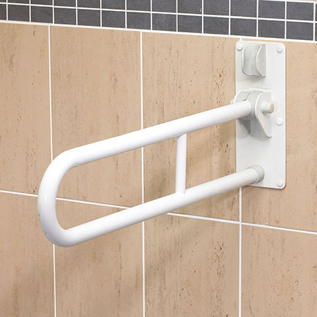 AKW 1800 Series Fold-Up Double Support Rail - White