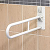 AKW 1800 Series Fold-Up Double Support Rail - White profile small image view 1