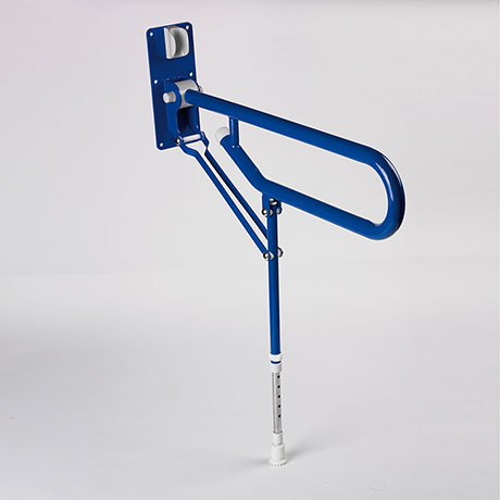 AKW 1800 Series Fold-Up Double Support Rail with Adjustable Leg - Blue