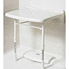 AKW 2000 Series Standard Fold-Up Shower Seat - White profile small image view 1