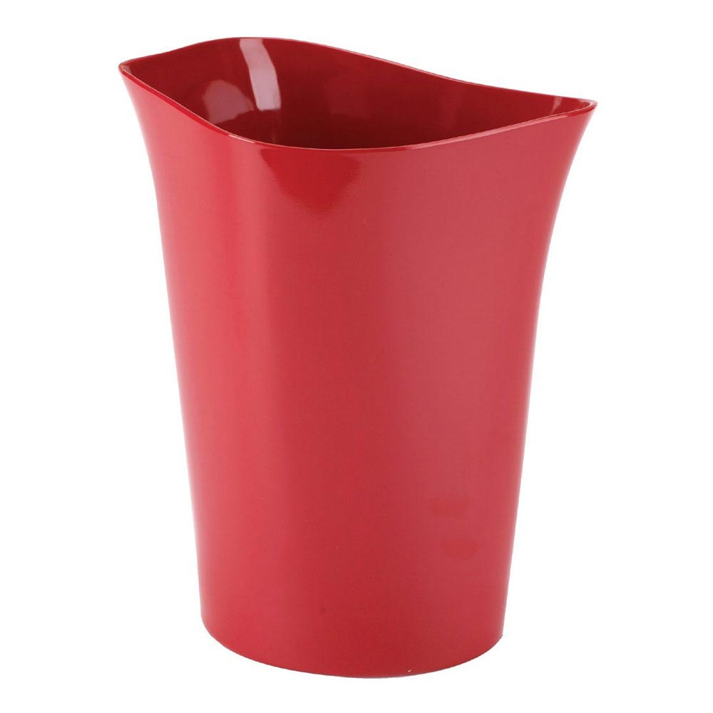 Umbra Orvino Waste Can - Red - 020345-505 profile large image view 1
