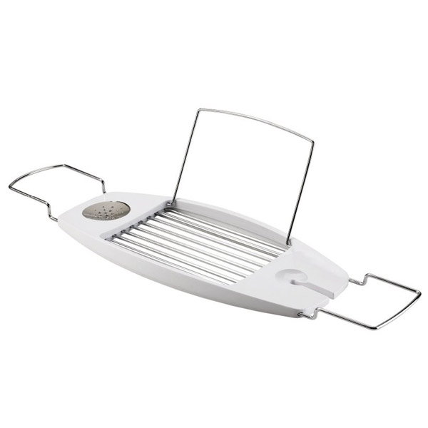 Beau Umbra Oasis Expandable Bathtub Caddy   White   020395 660 At Victorian  Plumbing UK
