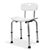 AKW Freestanding Shower Stool with Back profile small image view 1