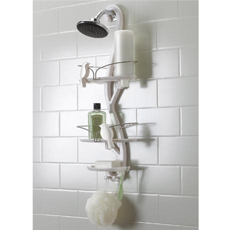 Umbra bird bath shower caddy white 023260 660 at for Chatsworth bathroom faucet parts