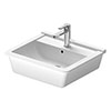 Duravit Starck 3 560mm 1TH Inset Basin - 0302560000 profile small image view 1