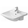 Duravit Starck 3 550mm 1TH Semi Recessed Basin - 0310550000 profile small image view 1