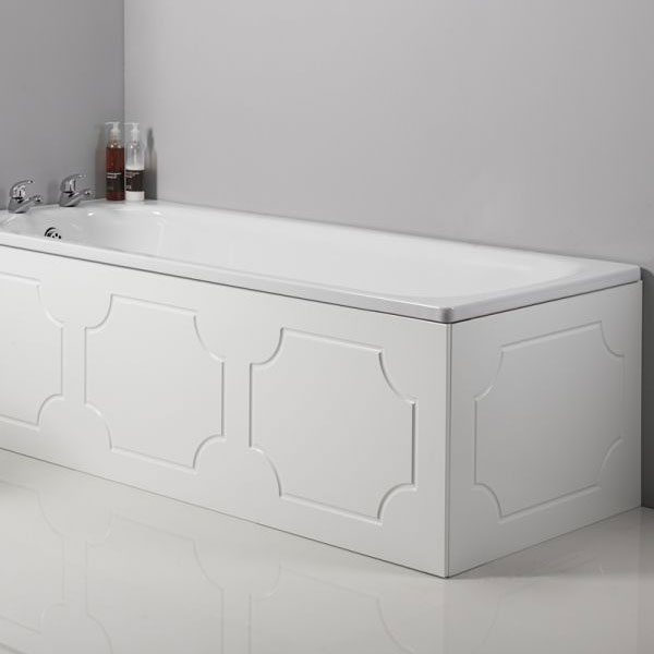 Tavistock Milton Front Bath Panel - White profile large image view 2