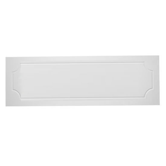 Tavistock Milton Front Bath Panel - White profile large image view 1