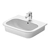 Duravit D-Code 545mm 1TH Inset Basin - 0337540000 profile small image view 1