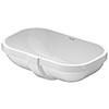 Duravit D-Code 495mm Under Counter Basin - 0338490000 profile small image view 1