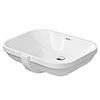 Duravit D-Code 560mm Under Counter Basin - 0338560000 profile small image view 1