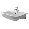 Duravit D-Code 550mm 1TH Semi Recessed Basin - 0339550000 profile small image view 1