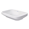 Duravit DuraStyle 600mm Counter Top Basin - 0349600000 profile small image view 1