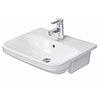 Duravit DuraStyle 550mm 1TH Semi-Recessed Basin - 0375550000 profile small image view 1