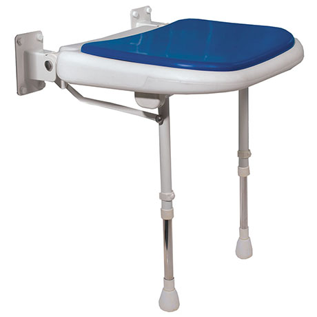 AKW 4000 Series Standard Fold-Up Shower Seat - Blue