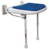 AKW 4000 Series Standard Fold-Up Shower Seat - Blue profile small image view 1