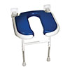 AKW 4000 Series Standard Horseshoe Fold-Up Shower Seat - Blue profile small image view 1