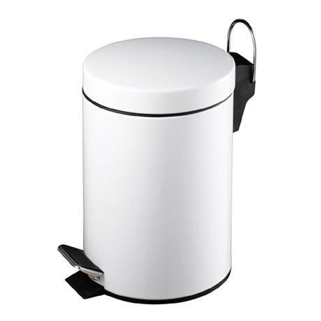White 3 Litre Pedal Bin - 0506422